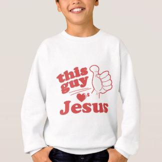 Este individuo ama a Jesús Sudadera