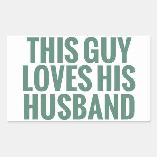 Este individuo ama a su marido rectangular altavoz