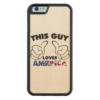 Este individuo ama América Funda De iPhone 6 Bumper Arce