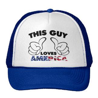 Este individuo ama América Gorros