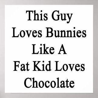 Este individuo ama conejitos como los amores póster