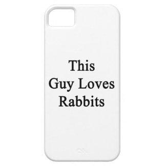 Este individuo ama conejos iPhone 5 Case-Mate carcasa
