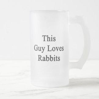 Este individuo ama conejos taza cristal mate