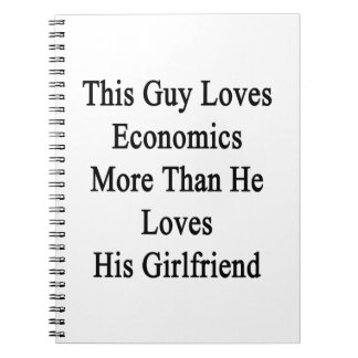 Este individuo ama la economía más que él ama su cuadernos