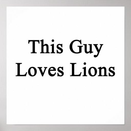 Este individuo ama leones posters