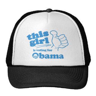 Este individuo/chica está votando por Obama Gorros Bordados