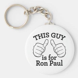 Este individuo está para Ron Paul Llavero Redondo Tipo Pin