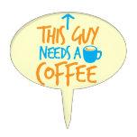 ¡Este individuo necesita un CAFÉ! Palillos De Tarta