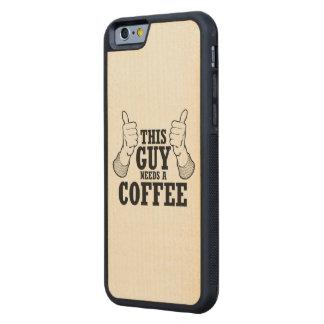 Este individuo necesita un café - humor del día de funda de iPhone 6 bumper arce