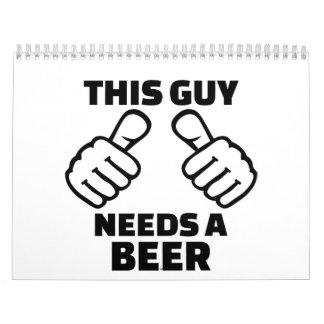 Este individuo necesita una cerveza calendario