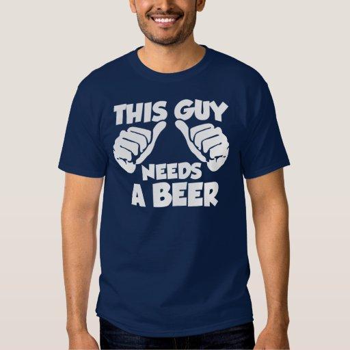 Este individuo necesita una cerveza remera