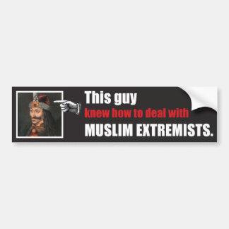 Este individuo sabía manejar radicales islámicos pegatina para auto