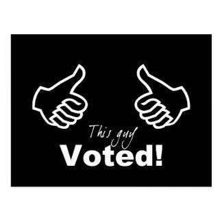 Este individuo votado postal