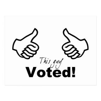Este individuo votado postales