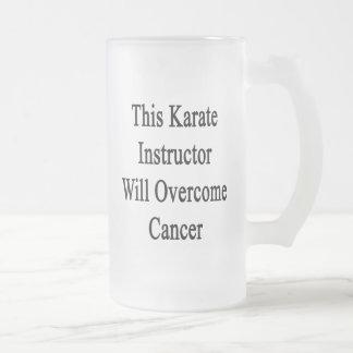 Este instructor del karate superará al cáncer taza cristal mate