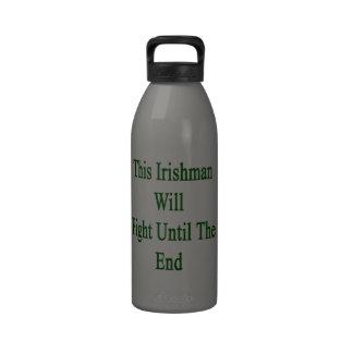 Este irlandés luchará hasta el extremo botellas de agua reutilizables