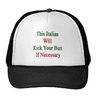 Este italiano golpeará su extremo con el pie en ca gorras