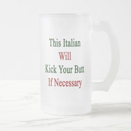 Este italiano golpeará su extremo con el pie en ca tazas