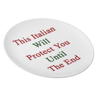 Este italiano le protegerá hasta el extremo platos para fiestas