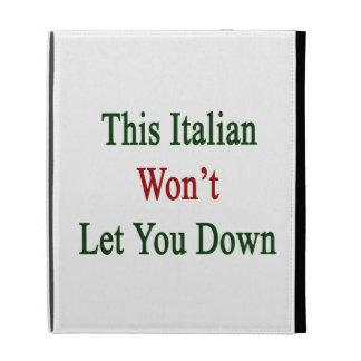Este italiano no le dejará abajo