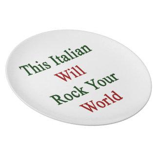 Este italiano oscilará su mundo plato para fiesta