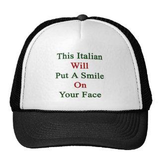 Este italiano pondrá una sonrisa en su cara gorras