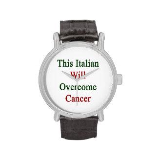 Este italiano superará al cáncer relojes