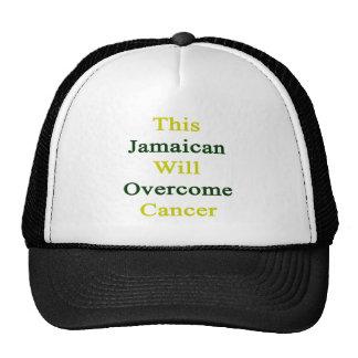 Este jamaicano superará al cáncer gorros