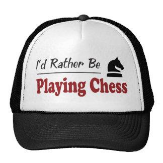 Esté jugando bastante a ajedrez gorro de camionero