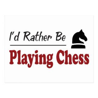Esté jugando bastante a ajedrez tarjeta postal