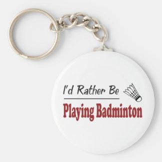Esté jugando bastante a bádminton llaveros personalizados