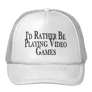 Esté jugando bastante a los videojuegos gorro de camionero