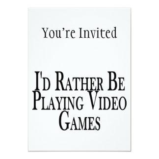 """Esté jugando bastante a los videojuegos invitación 5"""" x 7"""""""