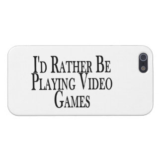 Esté jugando bastante a los videojuegos iPhone 5 carcasa