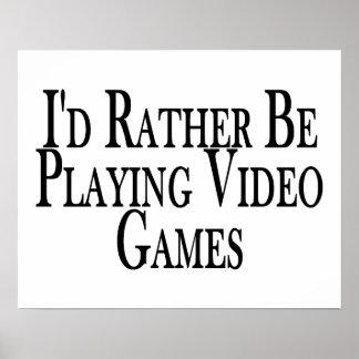 Esté jugando bastante a los videojuegos impresiones