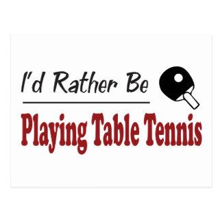 Esté jugando bastante a tenis de mesa tarjeta postal