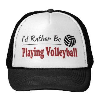 Esté jugando bastante a voleibol gorro