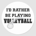 Esté jugando bastante a voleibol pegatina redonda