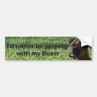Esté jugando bastante con mi pegatina para el para etiqueta de parachoque