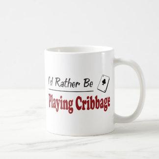 Esté jugando bastante Cribbage Taza De Café