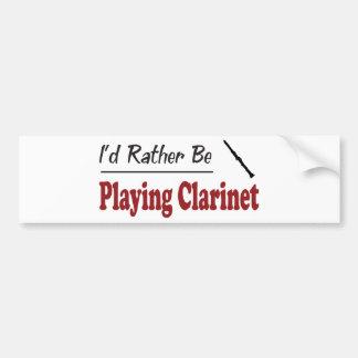Esté jugando bastante el Clarinet Pegatina De Parachoque
