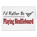 Esté jugando bastante el Shuffleboard Tarjeta De Felicitación