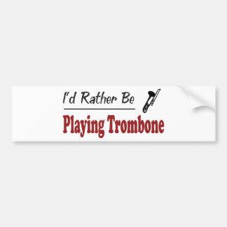 Esté jugando bastante el Trombone Pegatina De Parachoque