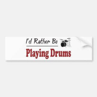 Esté jugando bastante los tambores pegatina para auto