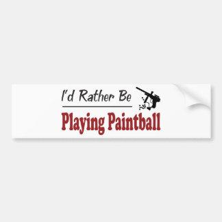 Esté jugando bastante Paintball Pegatina De Parachoque