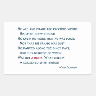 Este legado de alas era solamente un libro pegatina rectangular