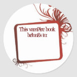Este libro del vampiro pertenece a pegatinas redondas