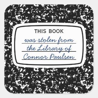 Este libro era falso Bookplate robado de la Pegatina Cuadrada