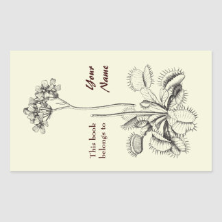 Este libro pertenece a floral pegatina rectangular