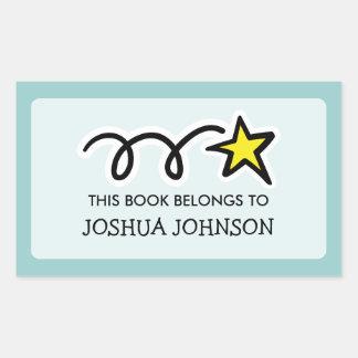 Este libro pertenece a la estrella fugaz de la pegatina rectangular